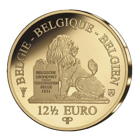 (EUR02.Proof.2021.12.5.E.1) 12,50 euro Belgique 2021 or BE - Anvers, ville diamantaire Revers