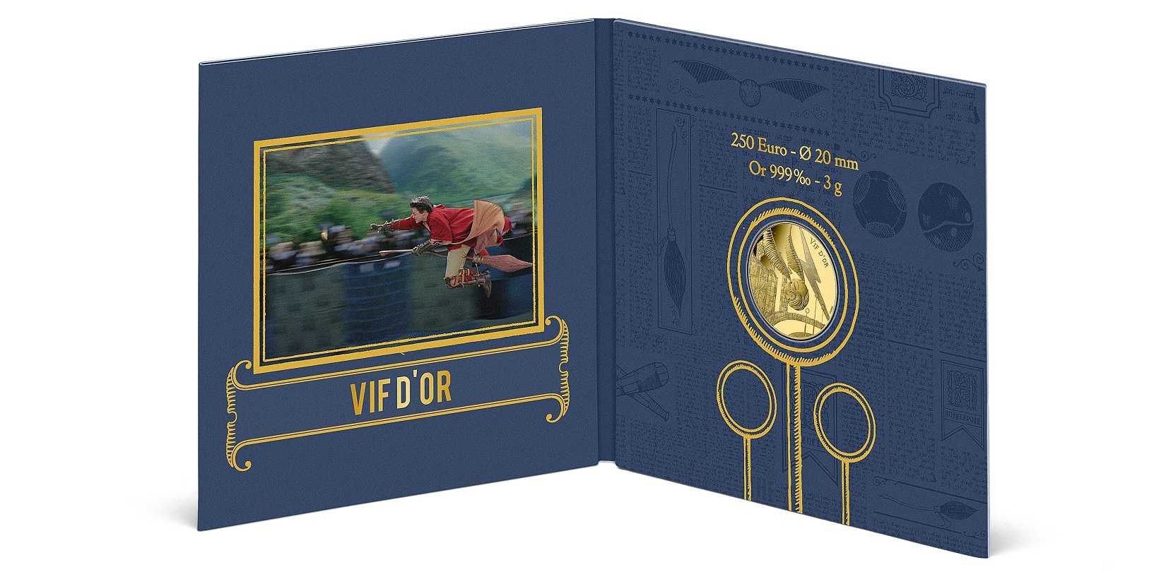 (EUR07.BU.2021.10041356980001) 250 € France 2021 BU Au - Golden Snitch (packaging inside part) (zoom)