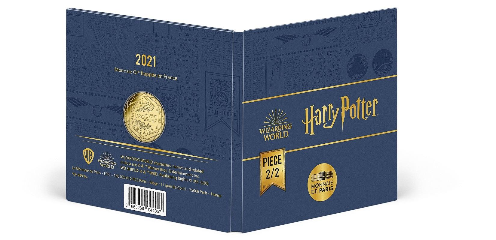 (EUR07.BU.2021.10041356980001) 250 € France 2021 BU Au - Golden Snitch (packaging outside part) (zoom)
