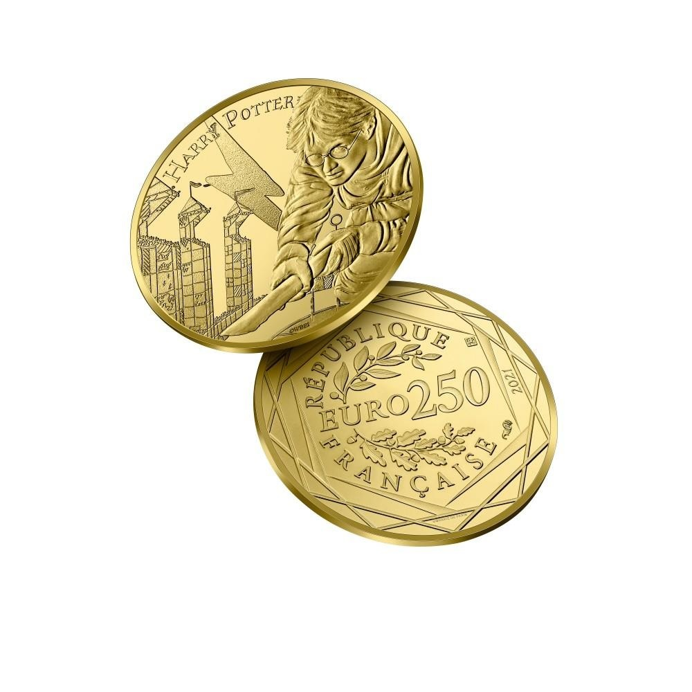 (EUR07.BU.2021.10041356980001) 250 € France 2021 BU Au - Golden Snitch (zoom)