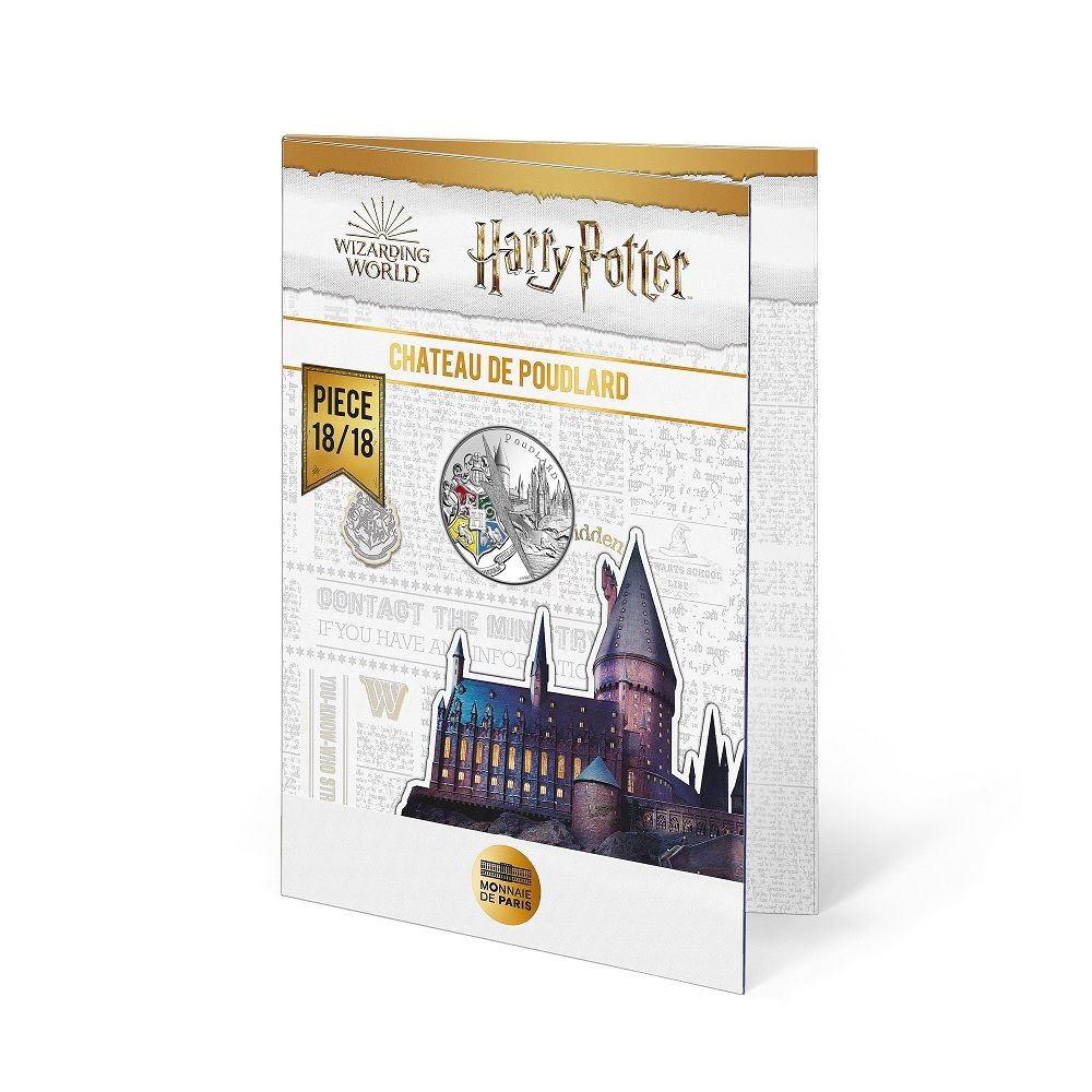 (EUR07.Unc.2021.10041356890005) 10 euro France 2021 Ag - Hogwarts Castle (blister) (zoom)