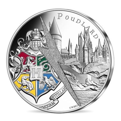 (EUR07.Unc.2021.10041356890005) 10 euro France 2021 argent - Château de Poudlard Avers