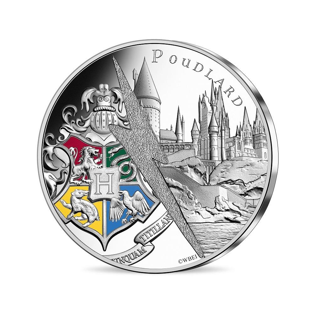 (EUR07.Unc.2021.10041356890005) 10 euro France 2021 silver - Hogwarts Castle Obverse (zoom)