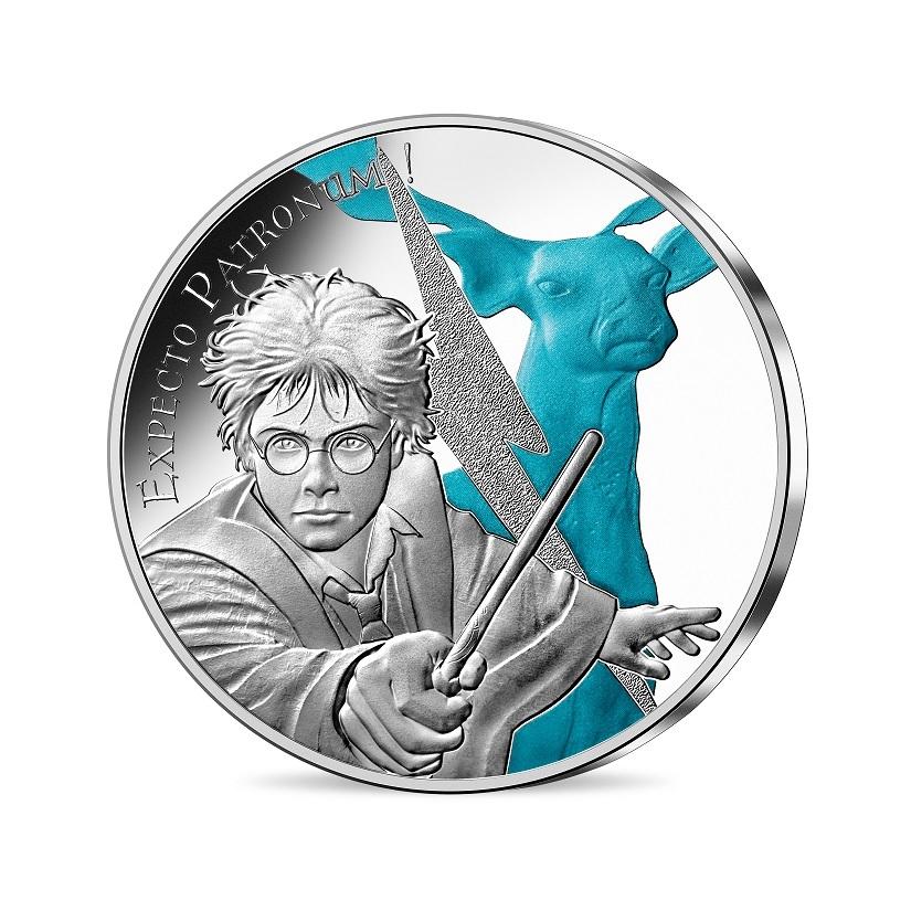 (EUR07.Unc.2021.10041356970005) 50 euro France 2021 silver - Expecto Patronum Obverse (zoom)