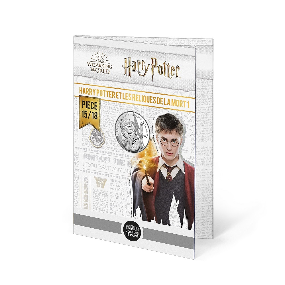 (EUR07.Unc.2021.10041357030005) 10 euro France 2021 Ag - Harry Potter & the Deathly Hallows (blister) (zoom)