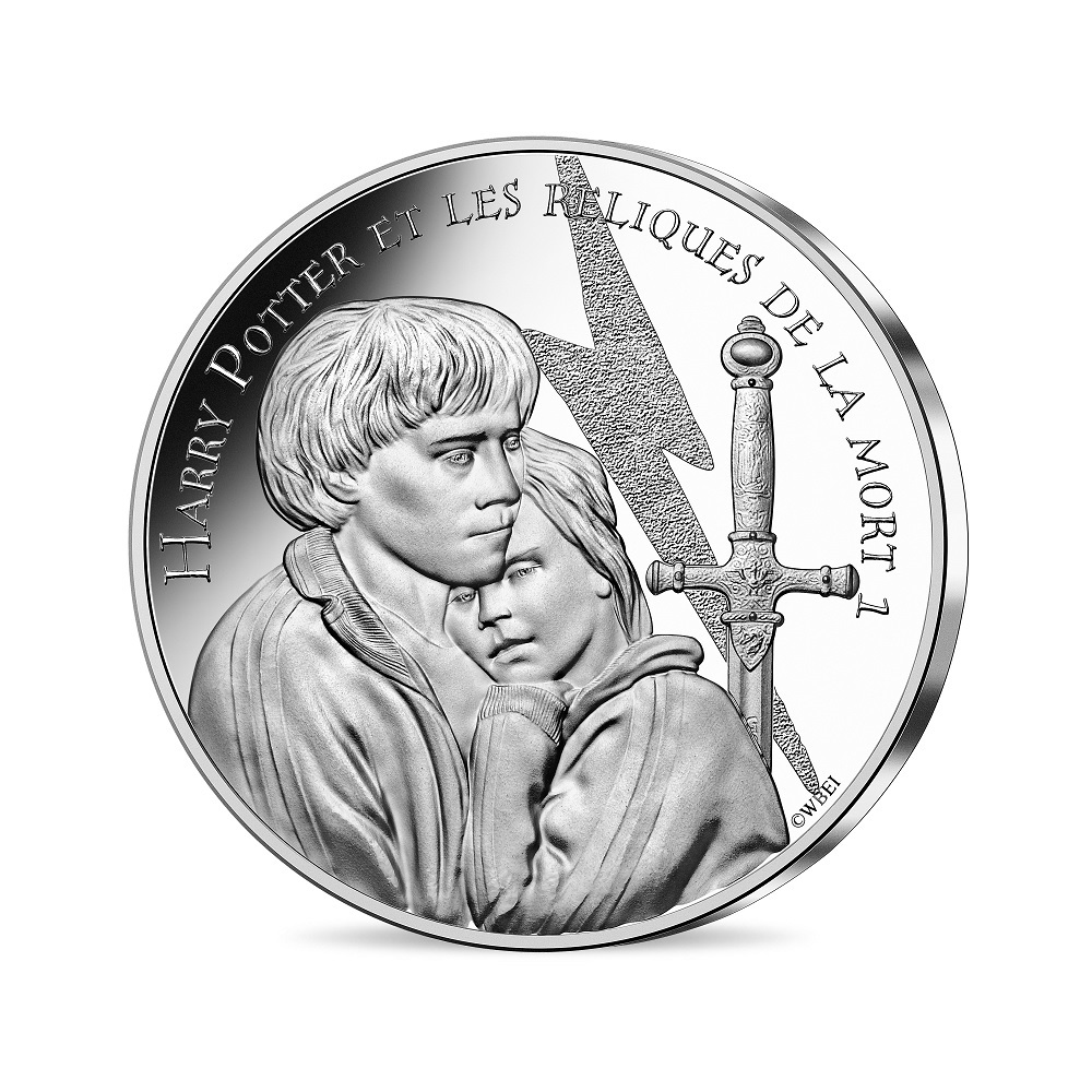 (EUR07.Unc.2021.10041357030005) 10 euro France 2021 silver - Harry Potter & the Deathly Hallows Obverse (zoom)