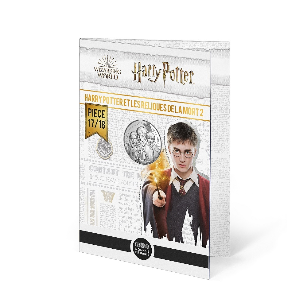 (EUR07.Unc.2021.10041357040005) 10 euro France 2021 Ag - Harry Potter & the Deathly Hallows (blister) (zoom)