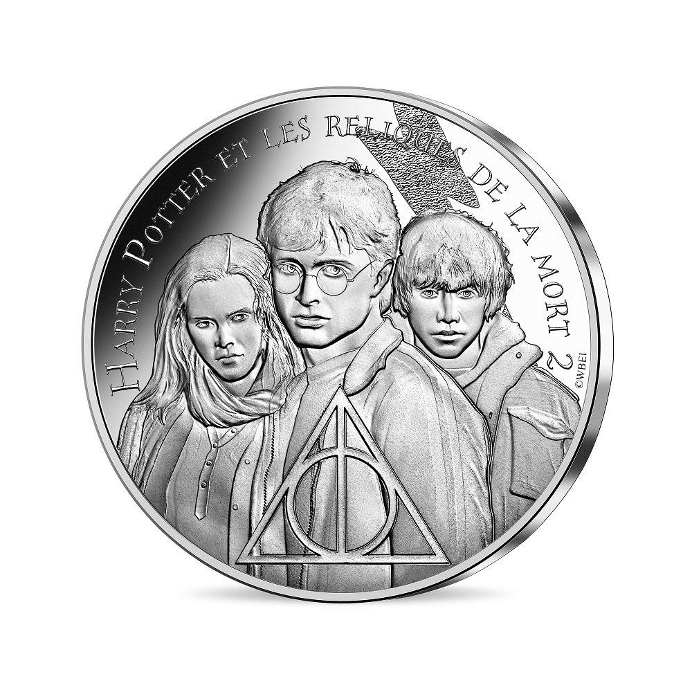 (EUR07.Unc.2021.10041357040005) 10 euro France 2021 silver - Harry Potter & the Deathly Hallows Obverse (zoom)