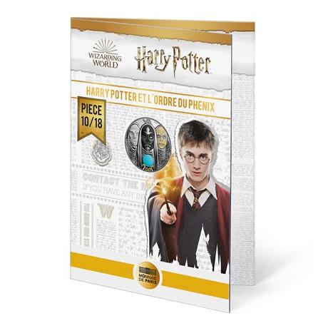 (EUR07.Unc.2021.10041357050005) 10 euro France 2021 Ag - Harry Potter et Ordre du Phénix (packaging)