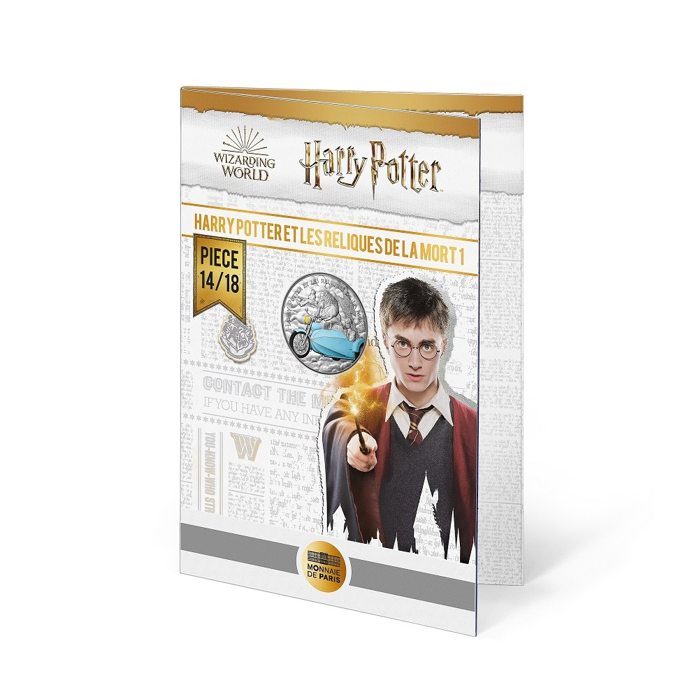 (EUR07.Unc.2021.10041357070005) 10 euro France 2021 Ag - Harry Potter & the Deathly Hallows (blister) (zoom)