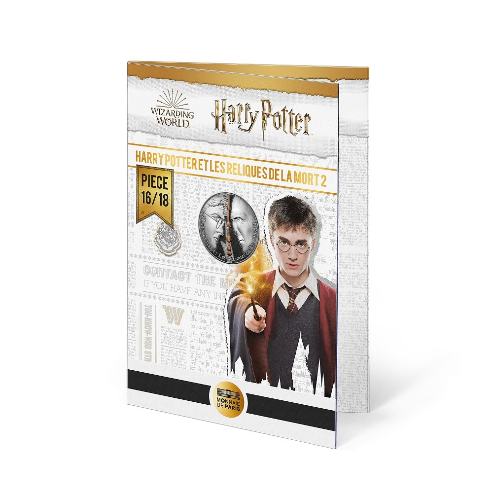 (EUR07.Unc.2021.10041357080005) 10 euro France 2021 Ag - Harry Potter & the Deathly Hallows (blister) (zoom)