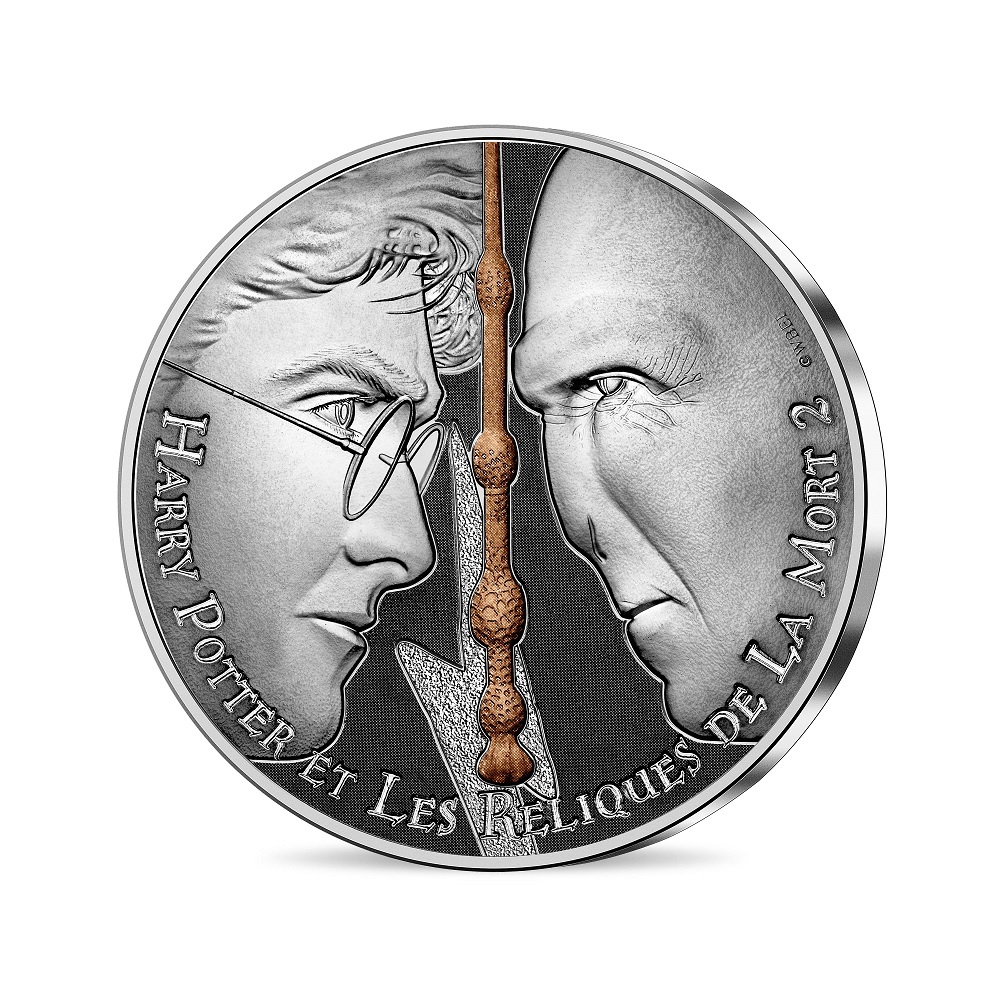(EUR07.Unc.2021.10041357080005) 10 euro France 2021 silver - Harry Potter & the Deathly Hallows Obverse (zoom)