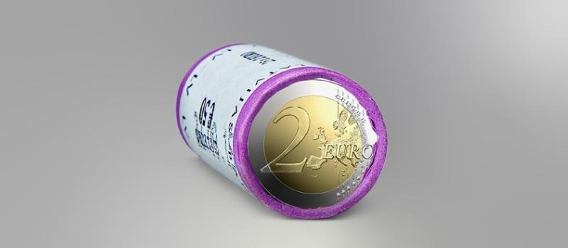 (EUR21.2.E.2020.roll.1) 2 euro roll Latvia 2020 - Latgale ceramic (zoom)