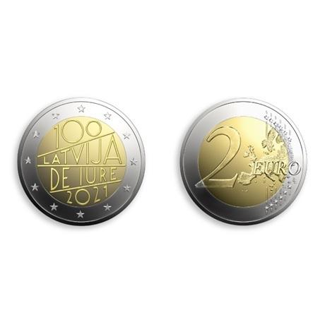 (EUR21.2.E.2021.1) 2 euro Lettonie 2021 - Reconnaissance de jure