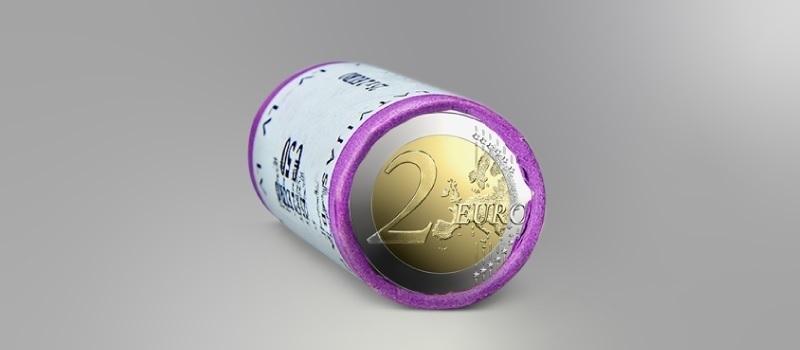(EUR21.2.E.2021.roll.1) 2 euro roll Latvia 2021 - The Latvia de iure 100 (zoom)