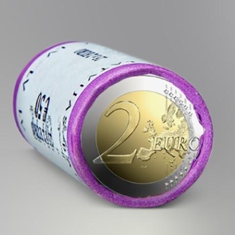 (EUR21.2.E.2021.roll.1) Rouleau 2 euro Lettonie 2021 - Reconnaissance de Jure