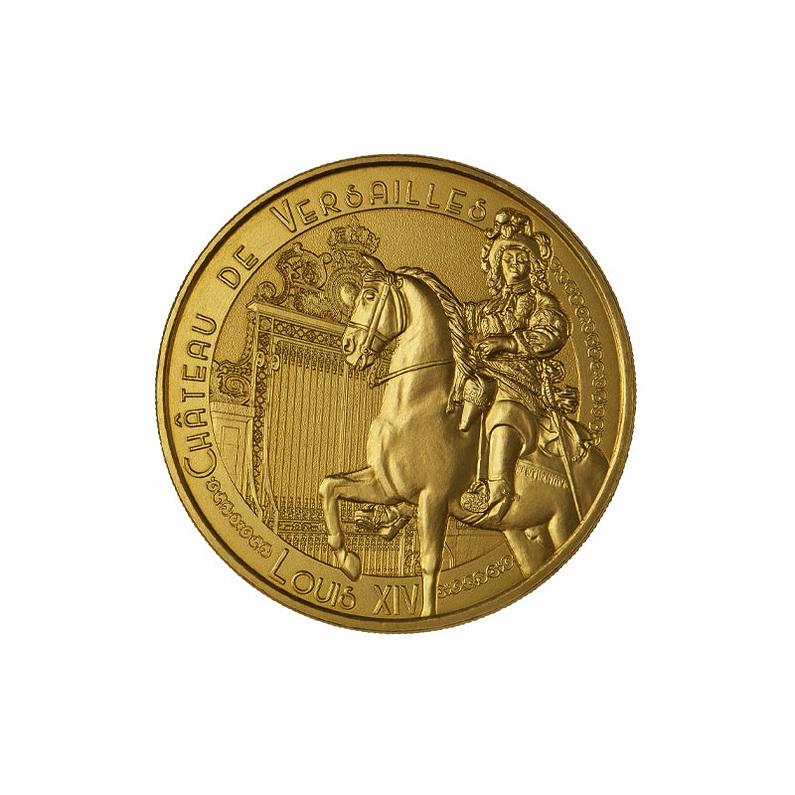 (FMED.Méd.souv.n.d._2021_.3336728455233) King Louis XIV and the Versailles castle Obverse (zoom)