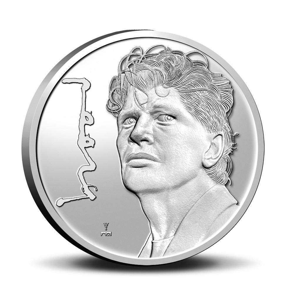 (MED14.KNM.2021.0112301) BU copper-nickel medal - Herman Brood Reverse (zoom)
