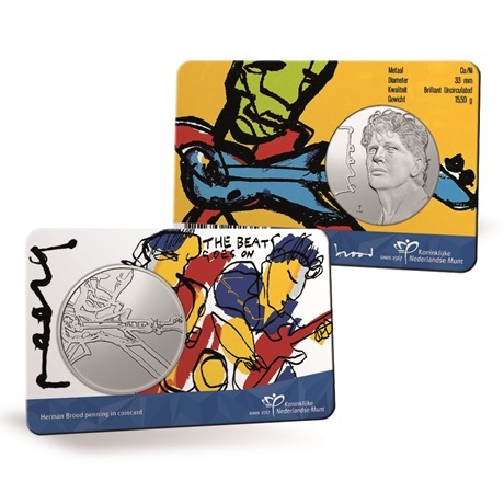 (MED14.KNM.2021.0112301) Médaille cupro-nickel BU - Herman Brood (coin card)