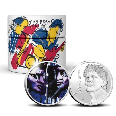 (MED14.KNM.2021.0112308) Médaille argent BE - Herman Brood (pièce et packaging)