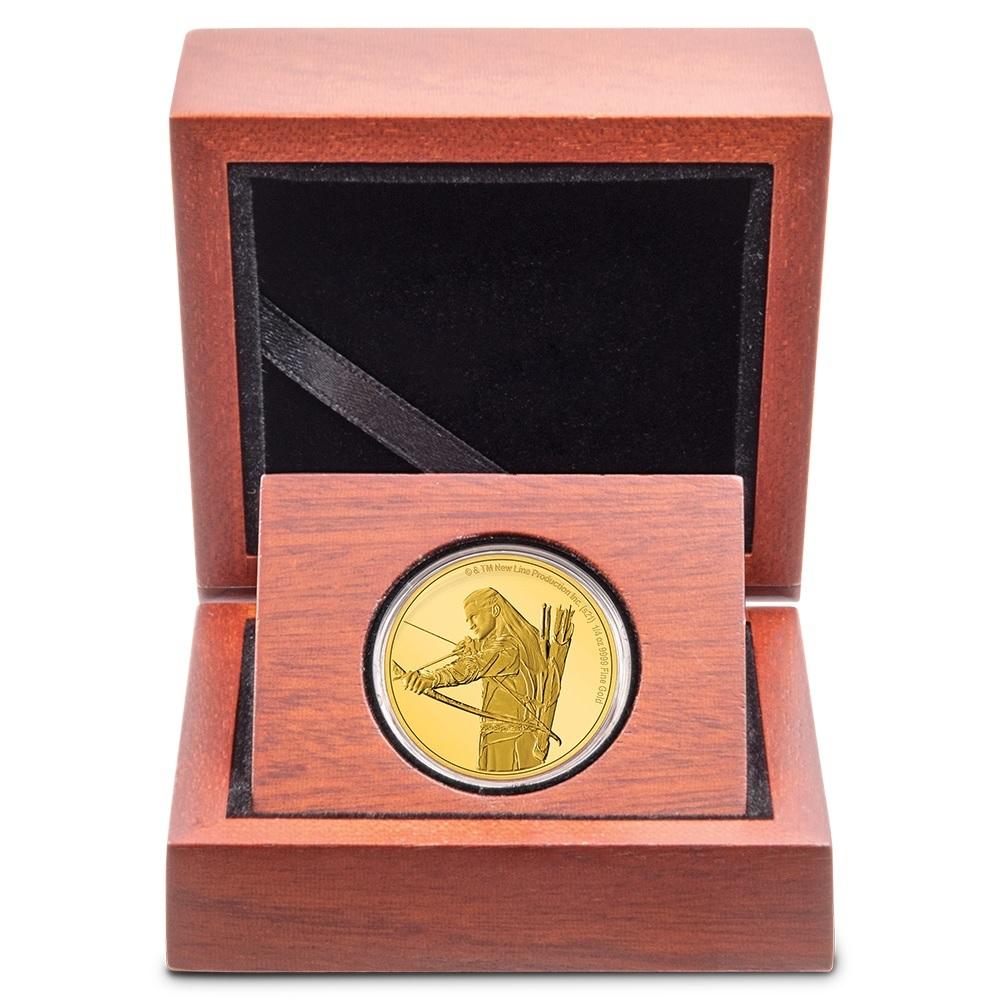 (W160.25.D.2021.30-01145) 25 Dollars Niue 2021 0.25 oz Proof gold - Legolas (case) (zoom)