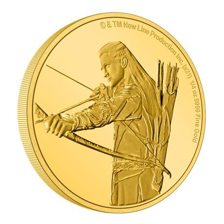 (W160.25.D.2021.30-01145) 25 Dollars Niue 2021 0,25 once Au BE - Legolas (tranche)