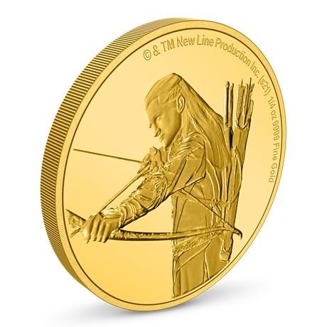 (W160.25.D.2021.30-01145) 25 Dollars Niue 2021 0,25 once or BE - Legolas (vue sur revers)