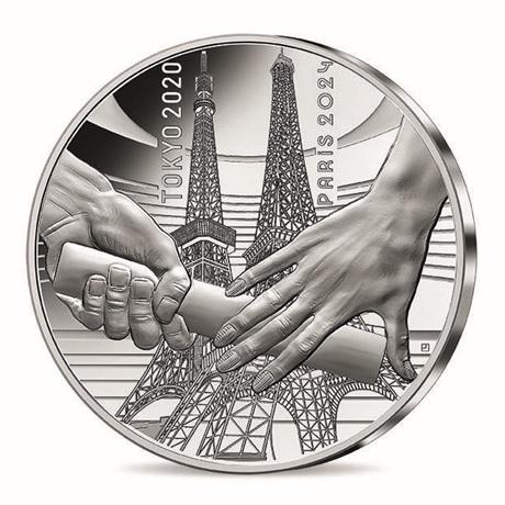 (EUR07.Proof.2021.10041355560000) 10 euro France 2021 argent BE - Jeux Olympiques de Paris Avers